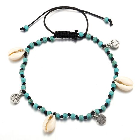 new shell beaded anklet creative retro bohemian anklet wholesale nihaojewelry NHPJ219325's discount tags