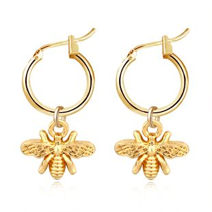 exlosion models popular gold and silver bees insect strap earrings wholesale nihaojewelry NHGJ219362's discount tags