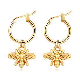 modelos de explosión populares aretes de correa de insecto de abejas de oro y plata al por mayor nihaojewelry NHGJ219362's discount tags