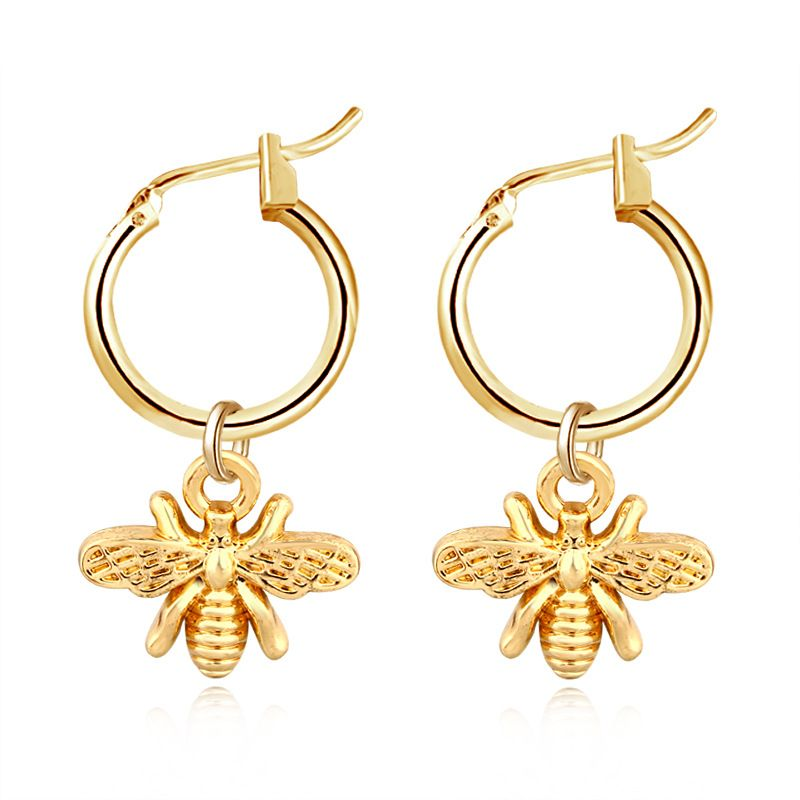 exlosion models popular gold and silver bees insect strap earrings wholesale nihaojewelry NHGJ219362