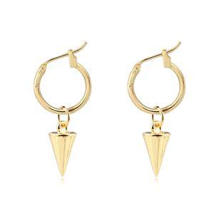 punk rock personality cone geometric pendant ear ring ear buckle fashion wild earrings wholesale nihaojewelry NHGJ219367's discount tags