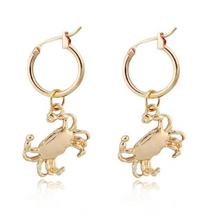 Korean trend jewelry cute unique crab alloy small earrings animal pendant ear ring Hoop ear buckle wholesale nihaojewelry NHGJ219372's discount tags
