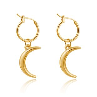 fashion earrings simple three-dimensional moon pendant ear ring crescent strap ear ring wholesale nihaojewelry NHGJ219380's discount tags