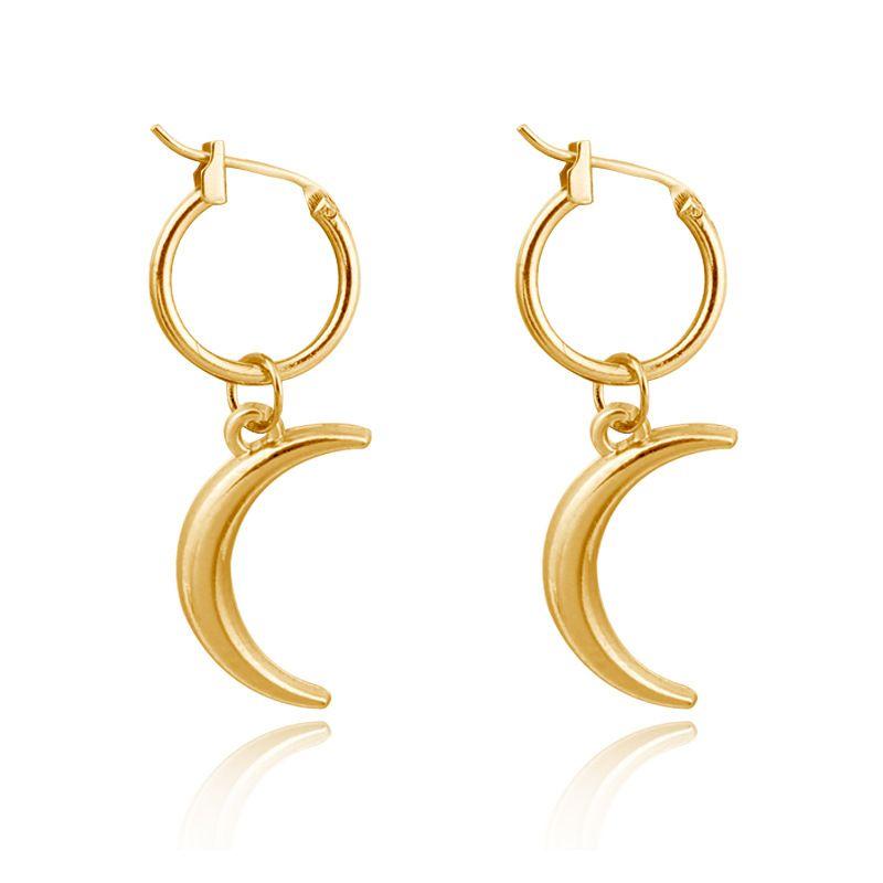 fashion earrings simple three-dimensional moon pendant ear ring crescent strap ear ring wholesale nihaojewelry NHGJ219380