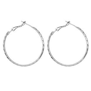 Pendientes hipoalergénicos de aguja de plata S925 simples pendientes grandes de metal exagerado hebilla de oreja modelos explosivos al por mayor nihaojewelry NHGJ219384's discount tags