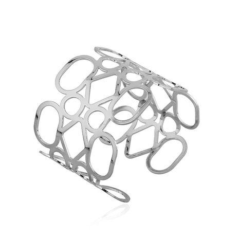 mode irrégulier géométrique creux alliage large ouverture grand bracelet vente chaude bijoux de mode alliage incrusté pierre naturelle sauvage femmes bracelet en gros nihaojewelry NHGJ219386's discount tags