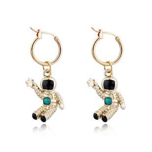 Korea creative fashion earrings unique cute astronaut pendant ear ring astronaut earrings wholesale nihaojewelry NHGJ219389's discount tags