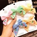Childrens hair accessories Korean princess cute big bow cherry lattice hairpin baby hairpin girl side clip headdress NHSA219399