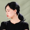 Super fairy girl pearl pendant earrings fashion Korean fashion small fresh earrings female wild drop earrings wholesale nihaojewelry NHQD219413