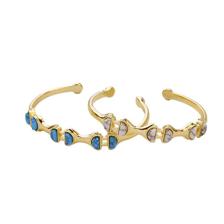fashion jewelry alloy inlaid natural stone wild womens bracelet wholesale nihaojewelry NHQD219441