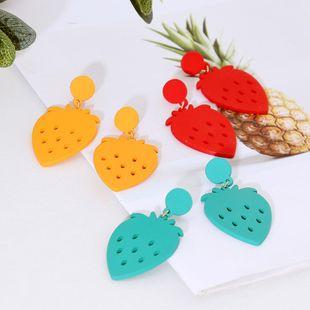 Korean cute fruit resin earring trend acrylic earring jewelry wholesale nihaojewelry NHLA219482's discount tags