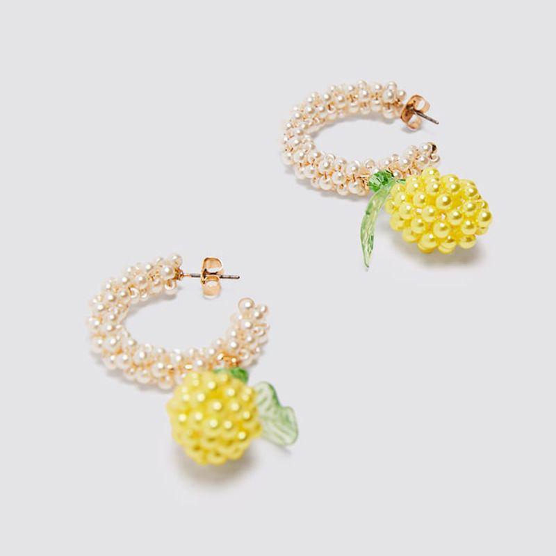 fashion trend handmade beaded pineapple earrings personality pearl earrings jewelry wholesale nihaojewelry NHLA219484