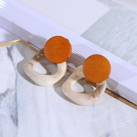 Simple Korean fashion wood acrylic earrings retro geometric acetate resin earrings jewelry wholesale nihaojewelry NHLA219486's discount tags