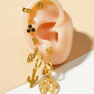 nuevos pendientes de moda chapados en oro se adaptan a los famosos pendientes de cactus de tiro callejero establecidos al por mayor nihaojewelry NHOT220193's discount tags