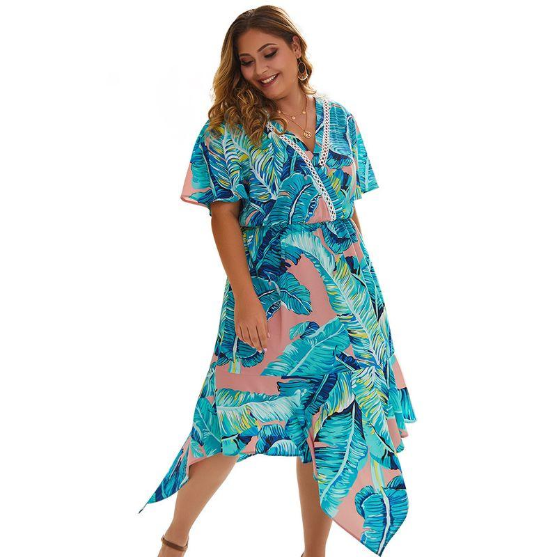 large size women's explosive dress new boho print skirt wholesale nihaojewelry NHKA219630