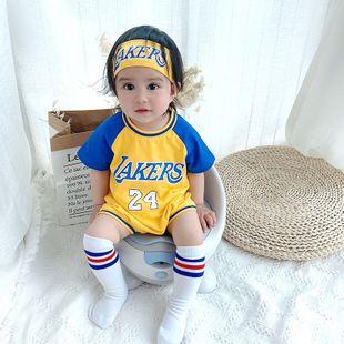 verano nuevo 0-3 años bebé bebé multicolor impresión de letras moda moda cómoda hakama venta al por mayor nihaojewelry NHTV219851's discount tags