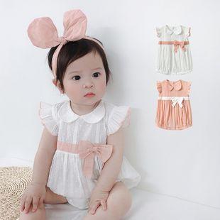 Verano nuevo estilo 0-2 años de edad bebé femenino bebé moda coreana princesa viento jacquard tejido triángulo al por mayor nihaojewelry NHTV219852's discount tags