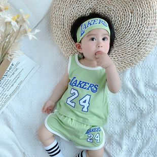 verano nueva personalidad del bebé de los niños tendencia de impresión digital coreano cómodo traje deportivo de ocio al por mayor nihaojewelry NHTV219854's discount tags
