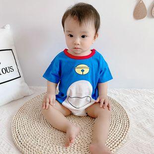 verano nuevo 0-3 años bebé costura bebé color dibujos animados moda coreana lindo triángulo de impresión Kazajstán al por mayor nihaojewelry NHTV219857's discount tags