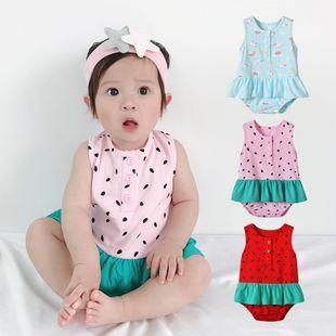 Ropa de verano para bebés mameluco para bebés de 0 a 1 años ropa para bebés recién nacidos ropa para niños mono de 3 meses y medio al por mayor nihaojewelry NHTV219865's discount tags