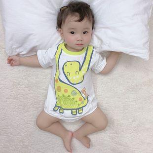 verano nuevo bebé infantil de 0-2 años casual triángulo de impresión de dinosaurio de dibujos animados lindo al por mayor nihaojewelry NHTV219869's discount tags