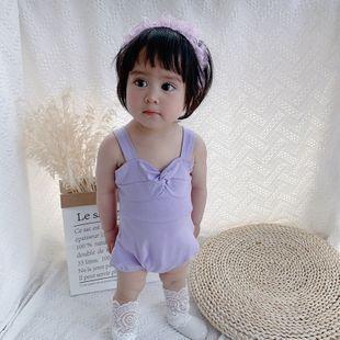 verano nuevo bebé niña bebé multicolor refrescante modelos salvajes moda brillo tirantes triángulo Kazajstán al por mayor nihaojewelry NHTV219875's discount tags
