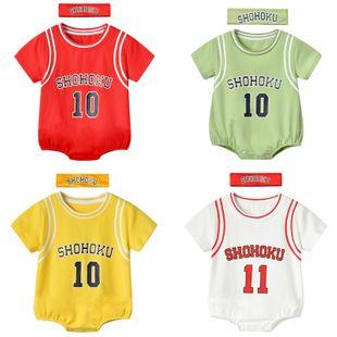 verano nuevo 0-3 años bebé infantil multicolor impresión digital tendencia moda triángulo de manga corta al por mayor nihaojewelry NHTV219877's discount tags
