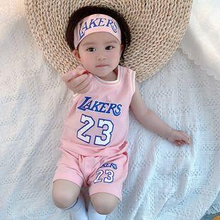 verano nueva personalidad del bebé de los niños tendencia de impresión digital coreano cómodo traje deportivo de ocio al por mayor nihaojewelry NHTV219880's discount tags