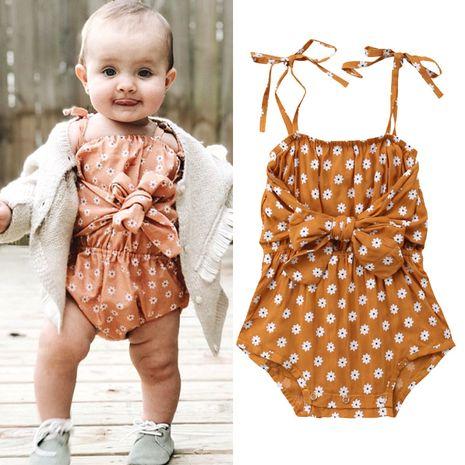 filles hakama explosions vêtements pour enfants floral dentelle combinaison décontractée marée femelle bébé vêtements rampants en gros nihaojewelry NHYB219886's discount tags