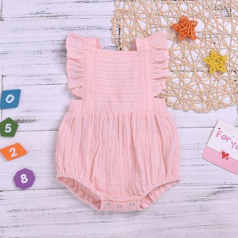 combinaison d'été vêtements pour enfants dentelle explosive manches barboteuse coton et lin pli sans manches robe en gros nihaojewelry NHYB219903's discount tags