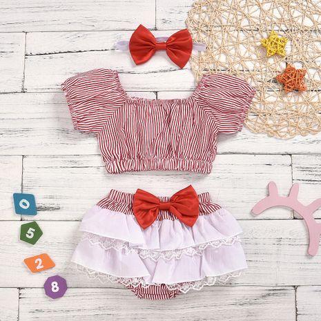 mode arc enfant robe ensemble petite princesse vêtements pour enfants en gros nihaojewelry NHYB219905's discount tags