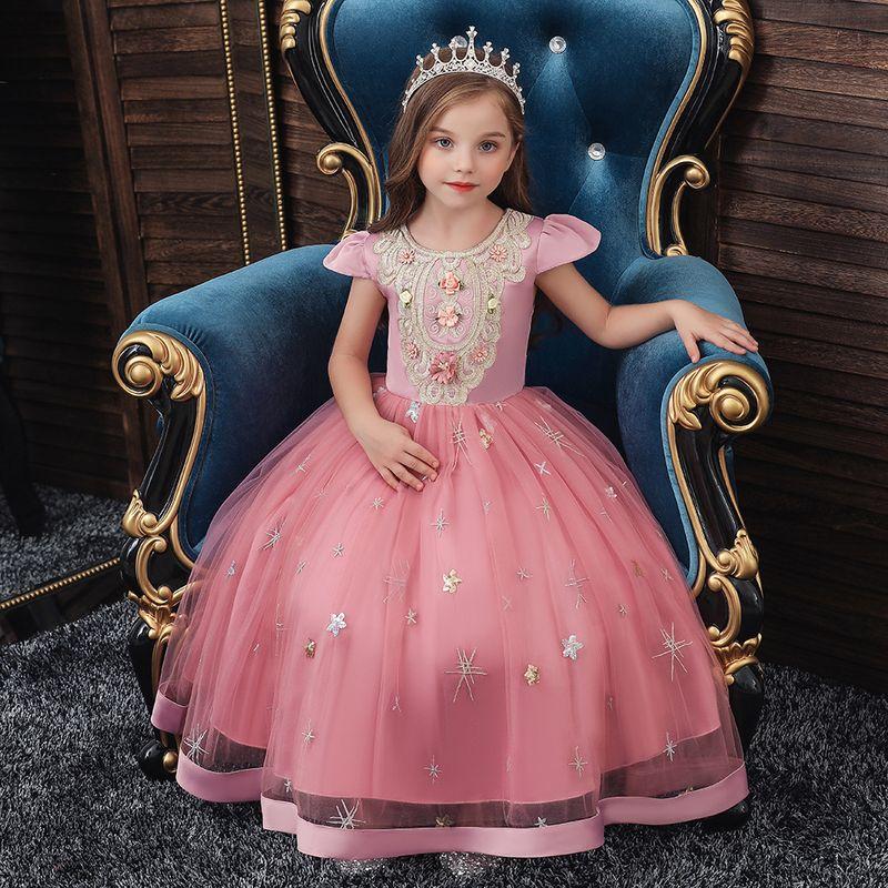 childrens dresses female banquet evening dress girls princess pettiskirt small host costume wholesale nihaojewelry NHTY219913