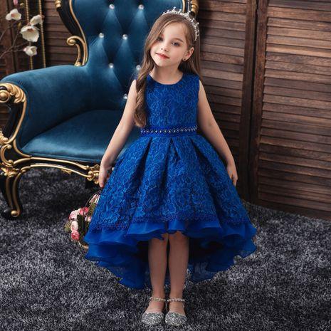 modèles d'explosion robe de queue pour enfants robe filles robe robe de soirée fille de fleur robe de mariée enfants en gros nihaojewelry NHTY219914's discount tags