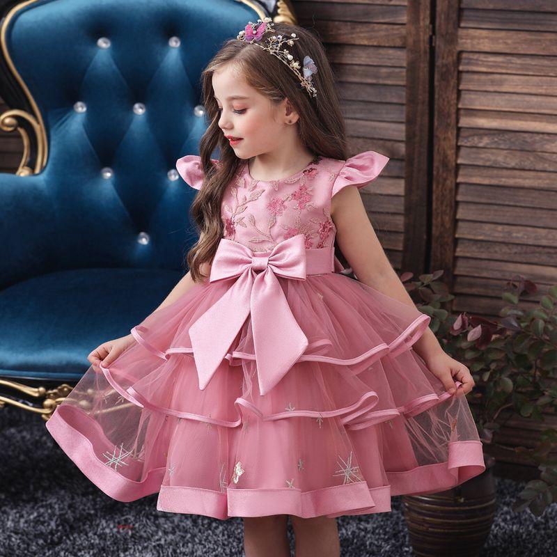 new childrens dress girls catwalk dress skirt flower girl wedding dress pettiskirt costume children wholesale nihaojewelry NHTY219915