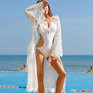 nuevo cinturón protector solar chaqueta larga de playa bohemia chaqueta de mujer con traje de baño de encaje encubrimiento al por mayor nihaojewelry NHXW219942's discount tags