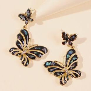 Pendientes de mariposa geométricos de gota de aceite de moda pendientes de aleación de diamantes creativos de venta caliente al por mayor nihaojewelry NHMD220016's discount tags