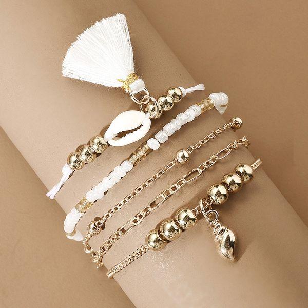 New Marine Series Shell Bracelet Set Fashion Creative Vacation Merry Fringe Bracelet wholesale nihaojewelry NHMD220019