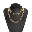 fashion exaggerated personality punk metal multilayer chain necklace texture personality personality wild popular trendy temperament accessories wholesale nihaojewelry NHJQ220026