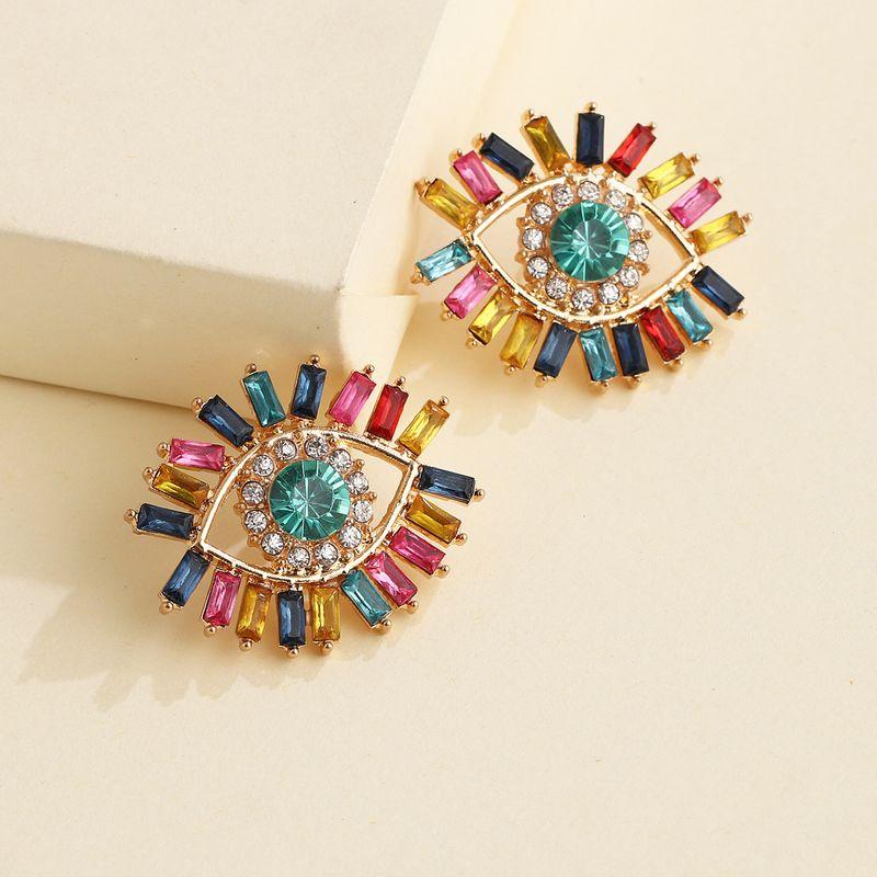 new angel's eye earrings Korean personality tide French demon earrings wholesale nihaojewelry NHJJ220045