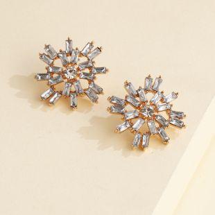 personalidad de la moda pendientes de metal exagerados pendientes cuadrados geométricos simples al por mayor nihaojewelry NHJJ220046's discount tags
