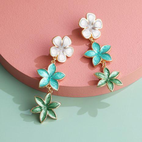 Fashion retro lilac oil drop flower earrings three earrings personalized earrings wholesale nihaojewelry NHJJ220048's discount tags