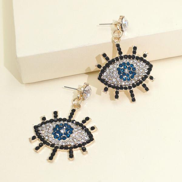 women's devil's eye micro diamond earrings fashion temperament earrings earrings wholesale nihaojewelry NHJJ220054