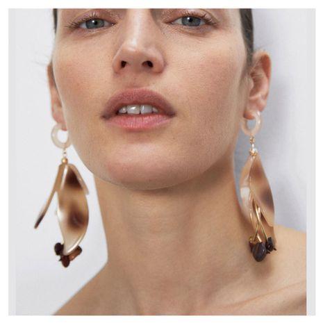 nouveau mode boucles d'oreilles sauvage résine fleur boucles d'oreilles mode exagéré longues boucles d'oreilles en gros nihaojewelry NHCT220056's discount tags