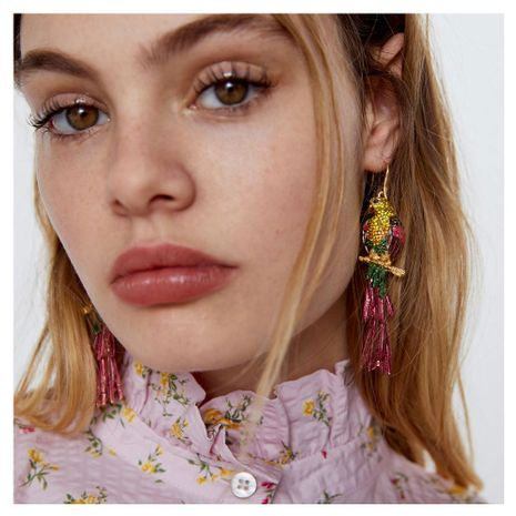 new exaggerated alloy drop oil diamond earrings cross-border fashion animal earrings wholesale nihaojewelry NHCT220062's discount tags
