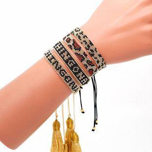 Pulsera pareja borla Miyuki grano de arroz pulsera de leopardo tejido al por mayor nihaojewelry NHGW220073's discount tags