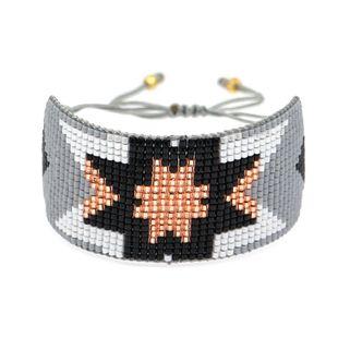 Pulsera de mujer de moda Miyuki cuentas de arroz tejido patrón geométrico simple pulsera de cuerda de amistad al por mayor nihaojewelry NHGW220080's discount tags