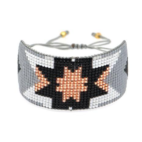 fashion women bracelet Miyuki rice beads weave simple geometric pattern friendship rope bracelet wholesale nihaojewelry NHGW220080's discount tags