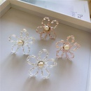 Korea new earrings tide retro crystal pearl transparent flower earrings exaggerated fairy earrings wholesale nihaojewelry NHYQ220116