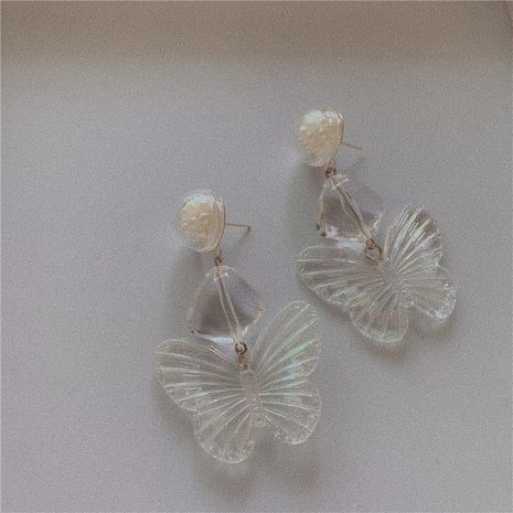Butterfly Fairy Dancing Butterfly Earrings Temperament Retro Hong Kong Style Exquisite Pearl Ears wholesale nihaojewelry NHYQ220119's discount tags