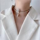 Bright diamond cross pattern full diamond zircon simple atmosphere wild diamond adjustable collar choker short necklace wholesale nihaojewelry NHYQ220123